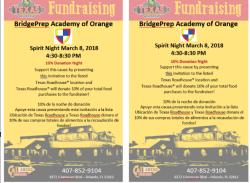 BPA 2018-2019 Texas Roadhouse Family Spirit Night